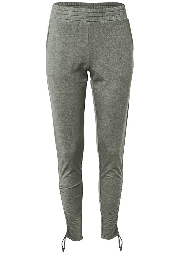 Cozy Drawstring Tie Joggers,Basic Cami Two Pack