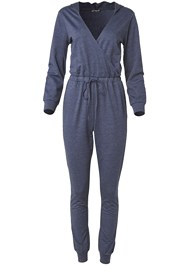 Ghost with background  view Surplice Lounge Jumpsuit