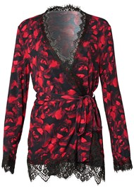 Alternate View Print Mesh Robe