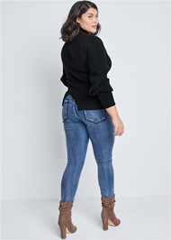 Back View Balloon Sleeve Sweater
