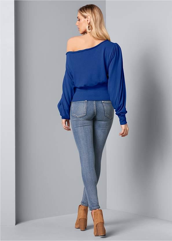 Back View Off-The-Shoulder Sweatshirt