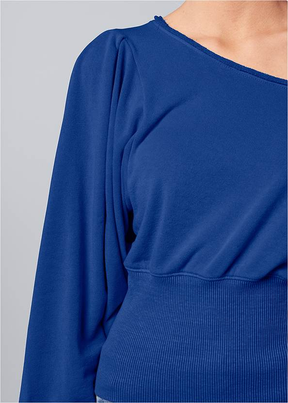 Alternate View Off-The-Shoulder Sweatshirt