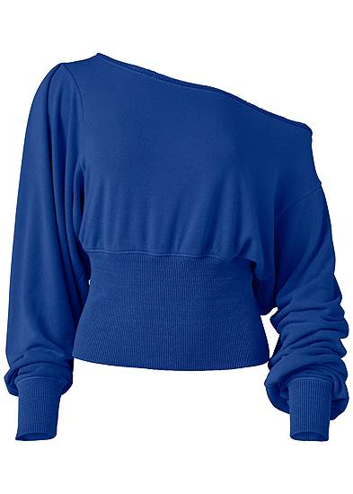 Plus Size Off-The-Shoulder Sweatshirt