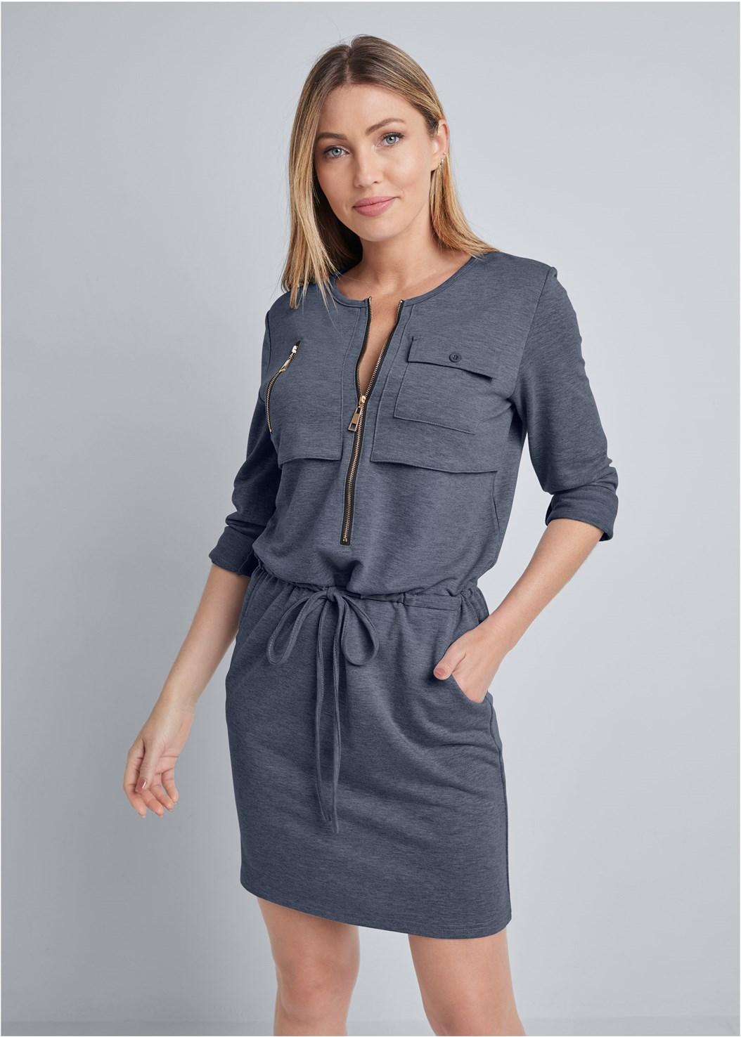 Zipper Detail Lounge Dress