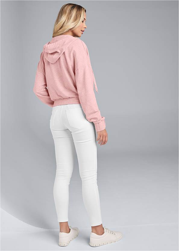 Back View Surplice Pullover Sweatshirt