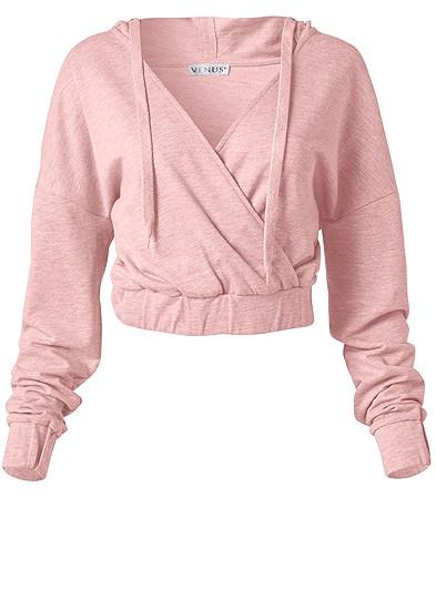 Plus Size Surplice Pullover Sweatshirt