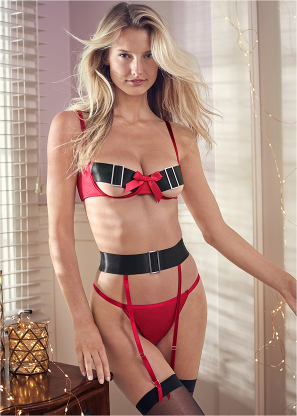 Open Cup Santa Bra Set