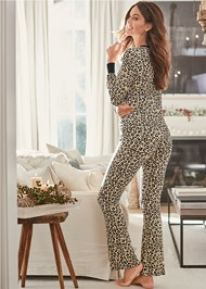 Full back view Sleep Pant Set