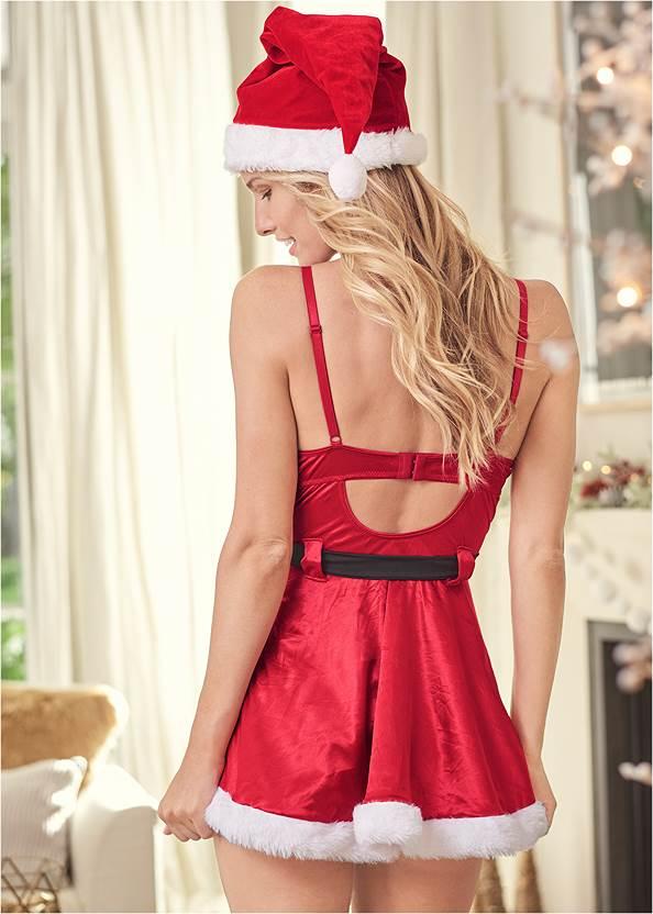Back View Santa Babydoll