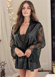 Cropped front view Robe And Bodysuit Set
