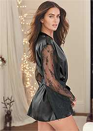 Cropped back view Robe And Bodysuit Set
