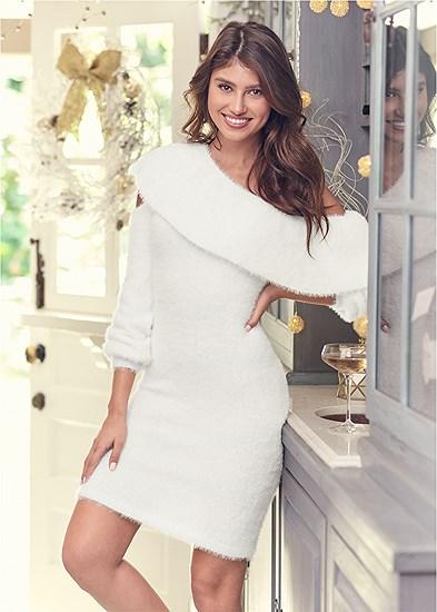 cozy one shoulder dress