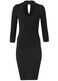 Ghost with background  view Mock Neck Midi Dress