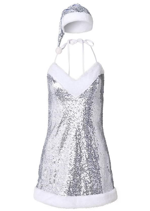 Ghost with background  view Sequin Santa Chemise