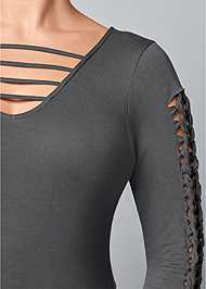 Alternate View Cut Out Sleeve Detail Top