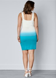Back View Drape Front Ombre Dress