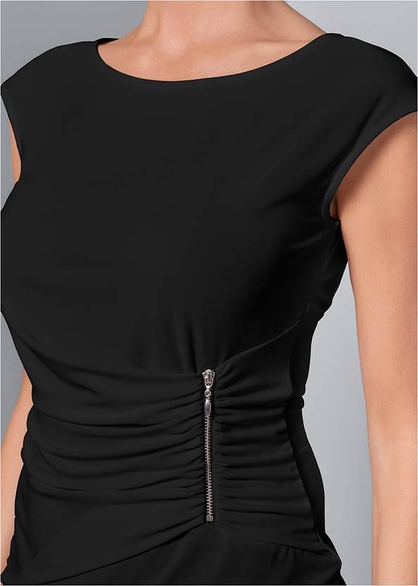 Alternate View Zip Detail Top