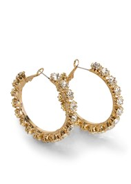 Alternate View Rhinestone Hoops