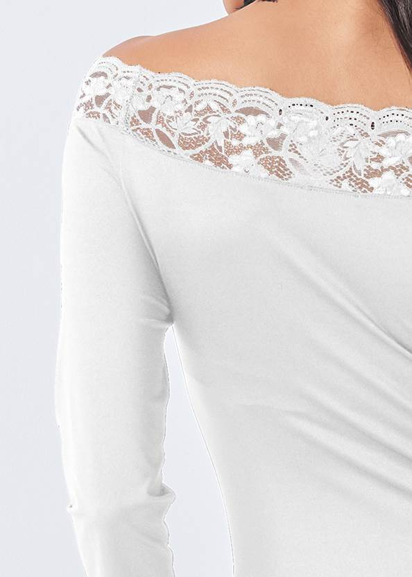 Alternate View Off-The-Shoulder Lace Top