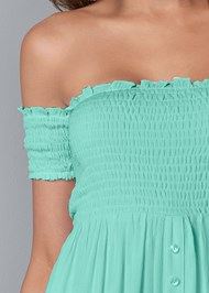 Alternate View Smocked Detail Maxi Dress