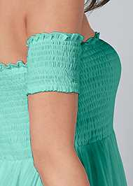 Alternate View Smocked Detail Maxi Dress