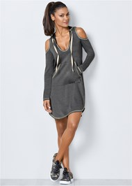 Alternate View Cold Shoulder Lounge Dress