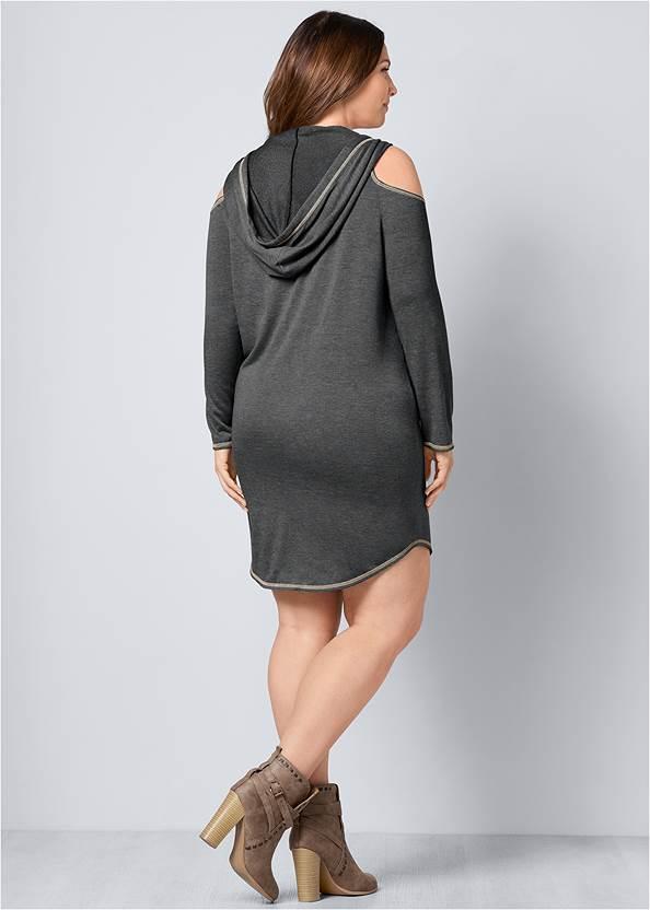 Back view Cold Shoulder Lounge Dress
