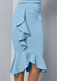 Alternate View Cap Sleeve Ruffle Detail Dress
