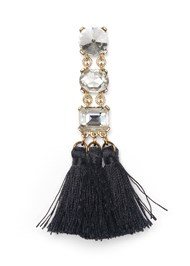 Alternate View Rhinestone Tassel Earring