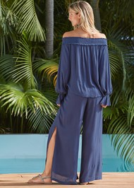 Back View Side Slit Cover-Up Pant
