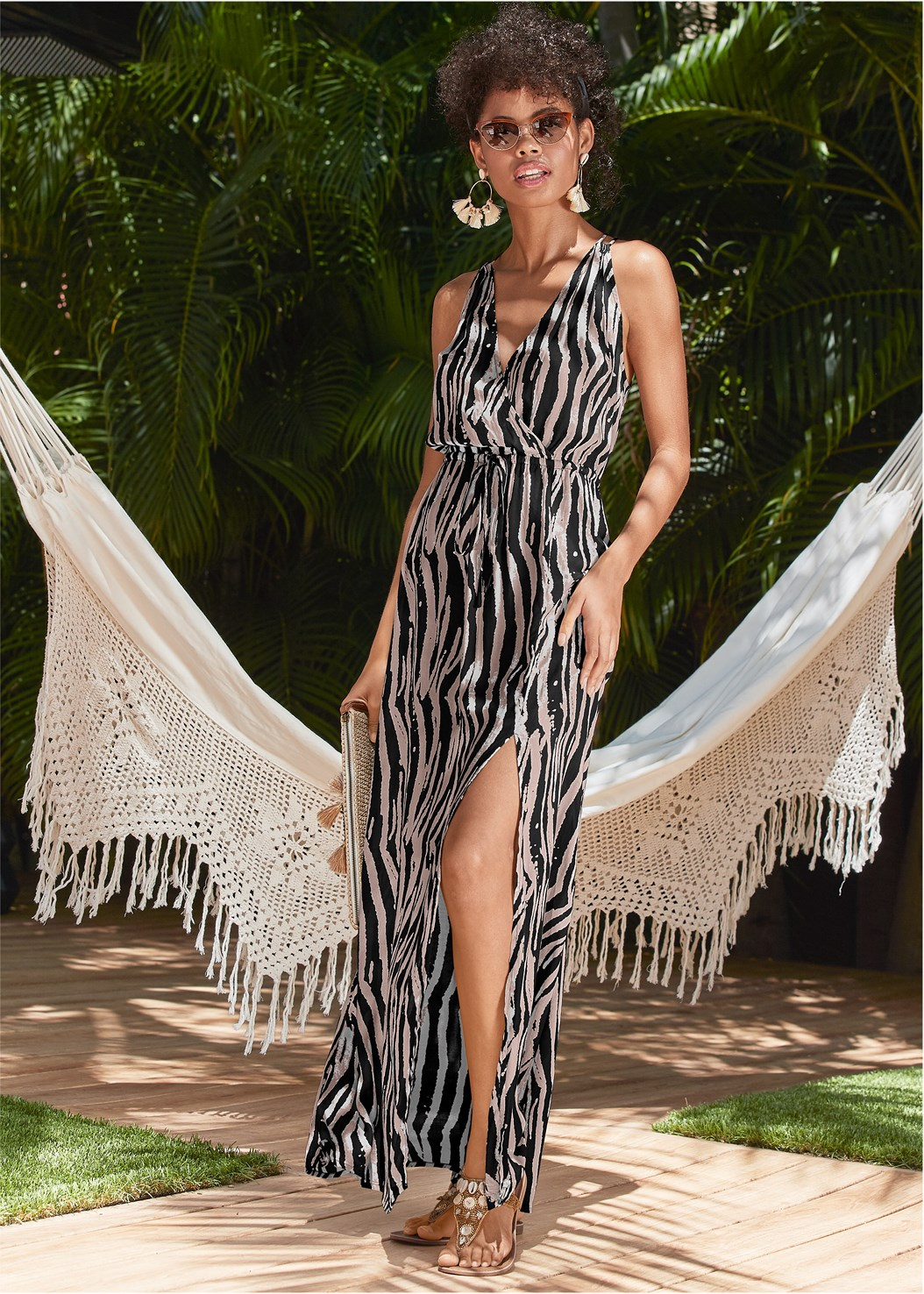 Maxi Cover-Up Dress,Jillian Underwire Top,Low Rise Classic Bikini Bottom ,Scoop Front Classic Bikini Bottom ,Belted Strap One-Piece,Shell Detail Sandals,Shell Earrings