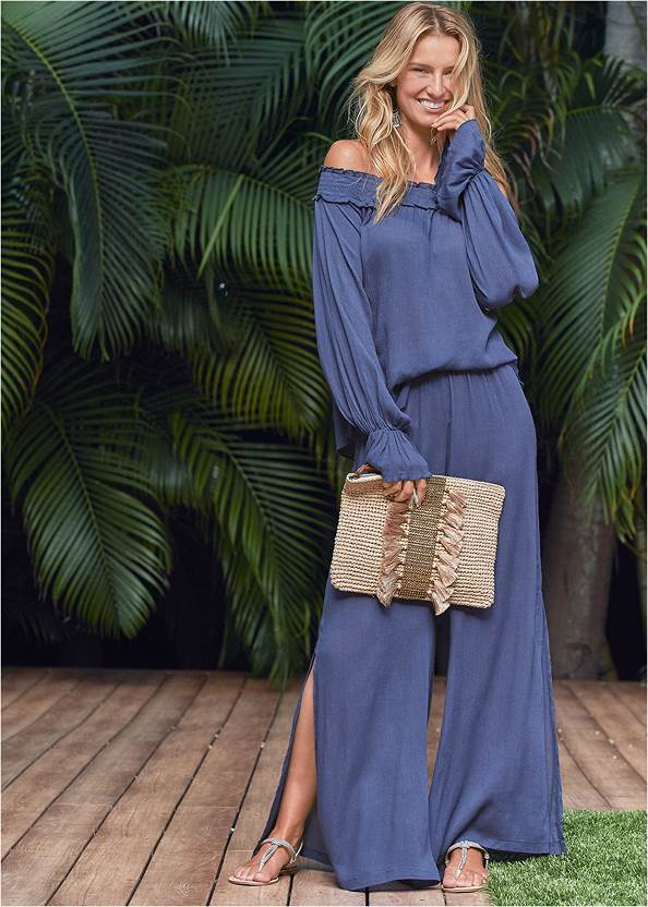 Front View Side Slit Cover-Up Pant
