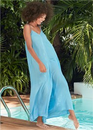 Front View Casual Jumpsuit Cover-Up