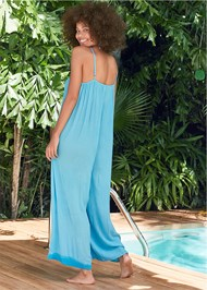 Back View Casual Jumpsuit Cover-Up