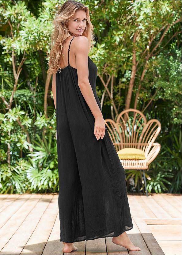 Full back view Casual Jumpsuit Cover-Up
