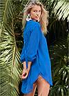 Back View Long Sleeve Tunic Cover-Up