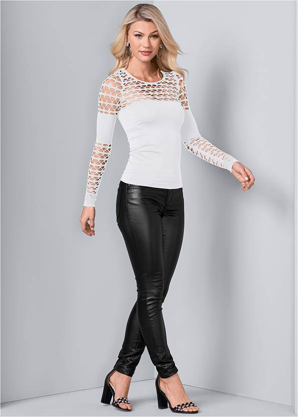 Full Front View Seamless Fitted Cut Out Top