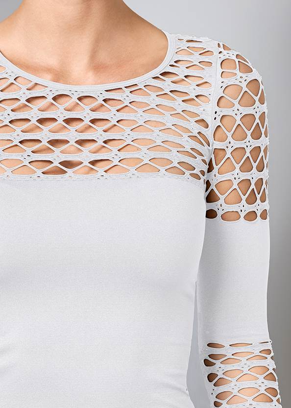 Alternate View Seamless Fitted Cut Out Top