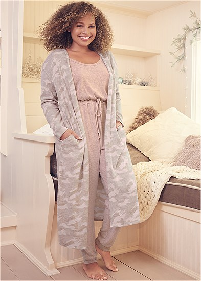 Plus Size Cozy Hacci Duster