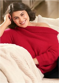 Alternate View Cozy Off Shoulder Sweater