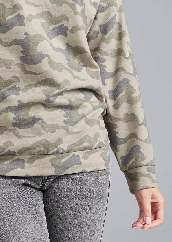 Alternate View Slash Detail Sweatshirt