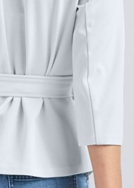 Alternate View Belt Detail Pleated Top