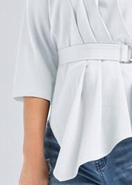 Alternate View Belt Detail Pleated Top