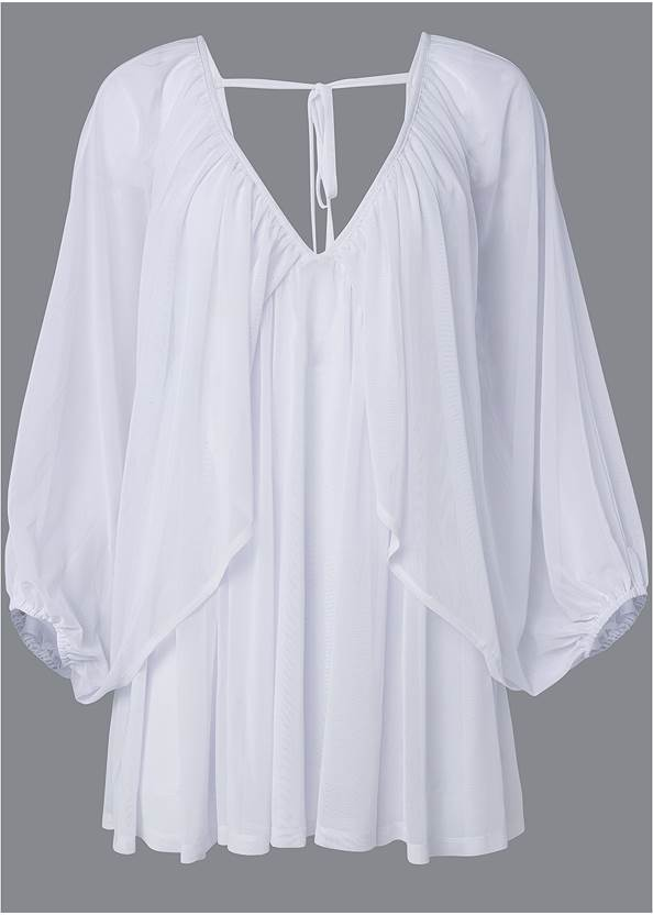 Alternate View Mesh Cover-Up Dress