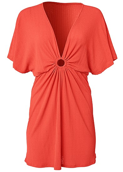 Plus Size Ring Front Dolman Cover-Up