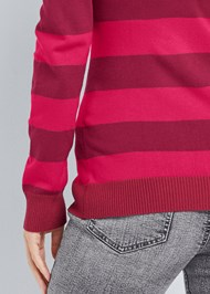Alternate View Striped Turtleneck Sweater