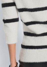 Alternate View Eyelash Turtleneck Striped