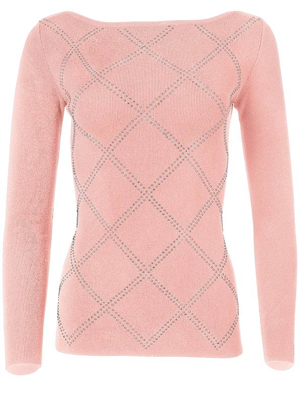 Cropped  view Embellished Sweater