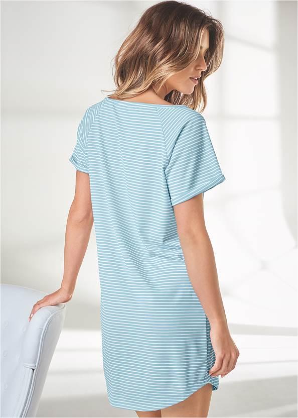 Back View Printed Sleep Dress