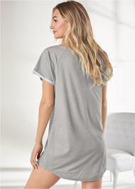 Back View Printed Sleep Shirt